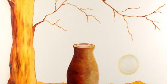 Árbol Dorado (70 x 90 cm) Óleo sobre Lienzo.