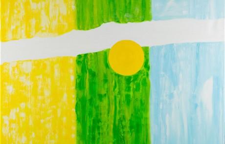Logros (100 x 100 cm) Óleo sobre Lienzo.