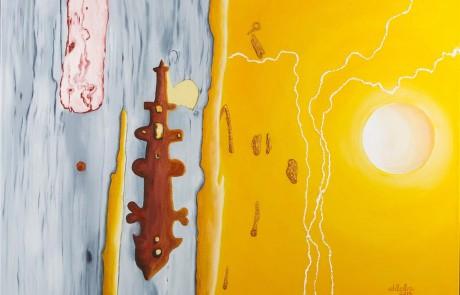 PORTA DO RIAL VII (70 x 100 cm) Óleo sobre Lienzo