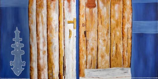 PORTA DO RIAL VIII (2 de 100 x 70 cm) Óleo sobre Lienzo