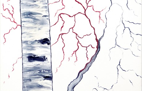 ABEDULES 1 (30 x 30 cm) Óleo sobre Lienzo