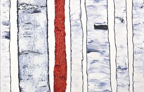 ABEDULES 4 (30 x 30 cm) Óleo sobre Lienzo
