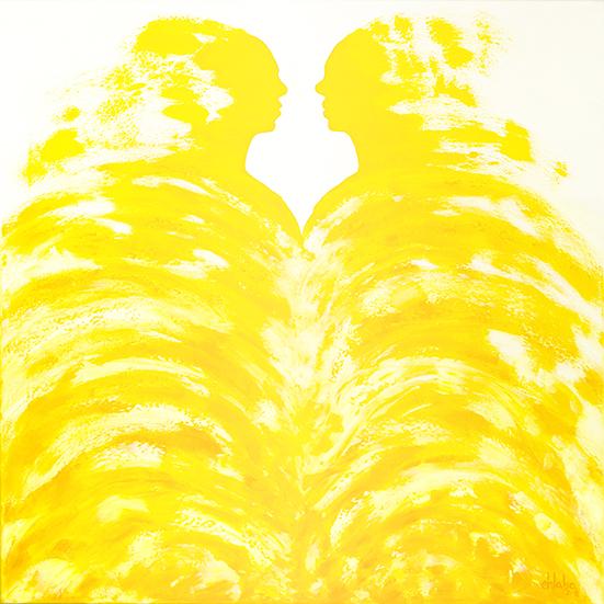 CONÓCETE A TI MISMX II (70 x 70 cm) Óleo sobre Lienzo