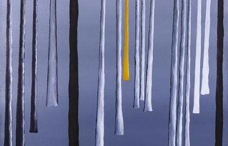 SIGO PLANTANDO ÁRBOLES III (70 x 70 cm) Óleo sobre Lienzo