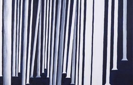 SIGO PLANTANDO ÁRBOLES V (70 x 70 cm) Óleo sobre Lienzo