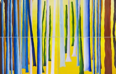 SIGO PLANTANDO ÁRBOLES VI (4 de 70 x 70 cm) Óleo sobre Lienzo