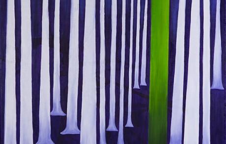 SIGO PLANTANDO ÁRBOLES VIII (70 x 70 cm) Óleo sobre Lienzo