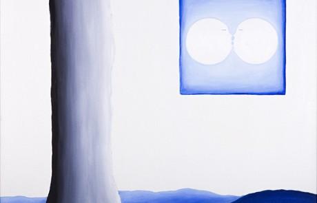 SIGO PLANTANDO ÁRBOLES X (70 x 70 cm) Óleo sobre Lienzo